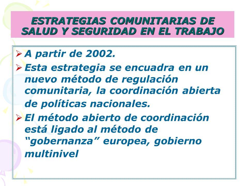 ESTRATEGIAS COMUNITARIAS DE SALUD Y SEGURIDAD EN EL TRABAJO
