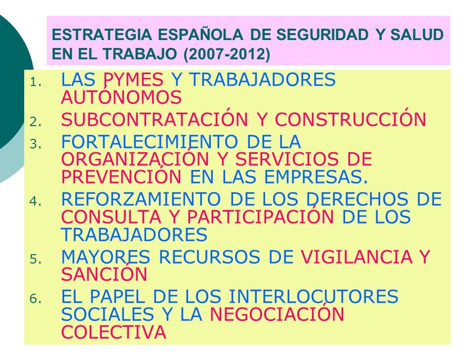 ESTRATEGIA ESPAÑOLA DE SEGURIDAD Y SALUD EN EL TRABAJO (2007-2012)