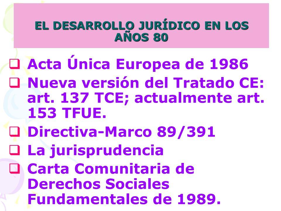 EL DESARROLLO JURÍDICO EN LOS AÑOS 80