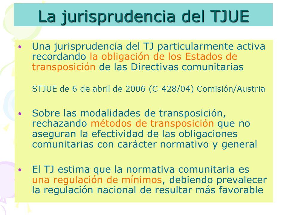 La jurisprudencia del TJUE