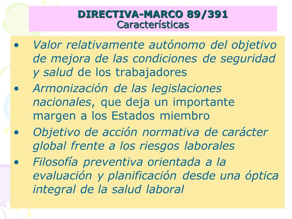 DIRECTIVA-MARCO 89/391 Características
