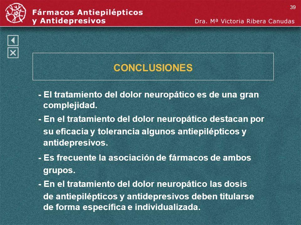 CONCLUSIONES - El tratamiento del dolor neuropático es de una gran