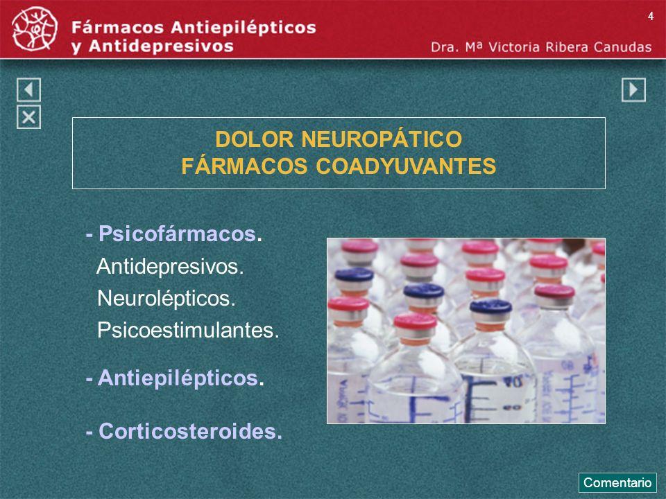 DOLOR NEUROPÁTICO FÁRMACOS COADYUVANTES