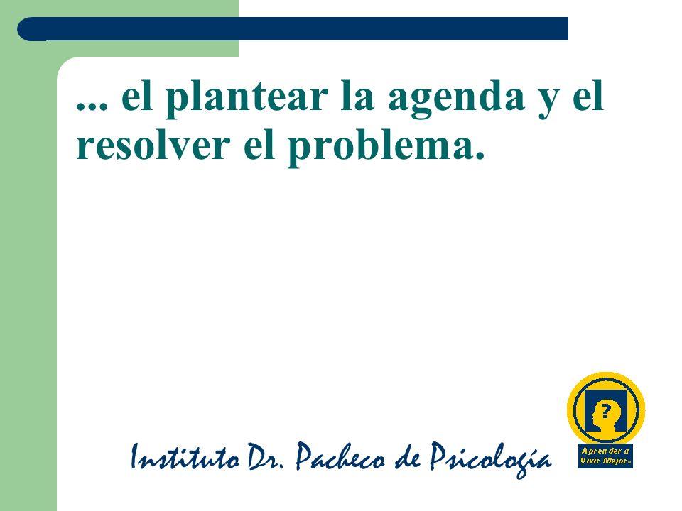 ... el plantear la agenda y el resolver el problema.