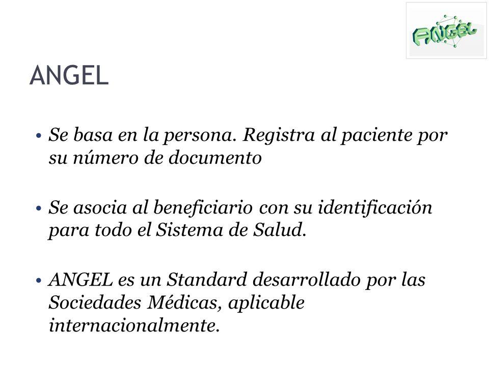 ANGEL Se basa en la persona. Registra al paciente por su número de documento.