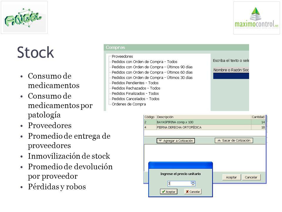 Stock Consumo de medicamentos Consumo de medicamentos por patología