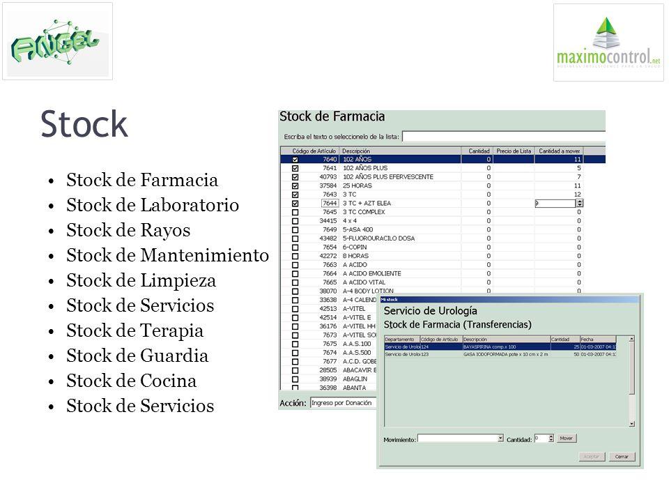Stock Stock de Farmacia Stock de Laboratorio Stock de Rayos