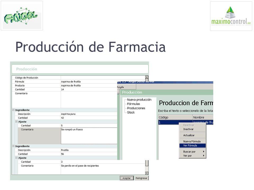 Producción de Farmacia