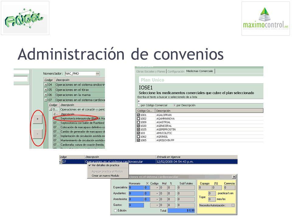 Administración de convenios