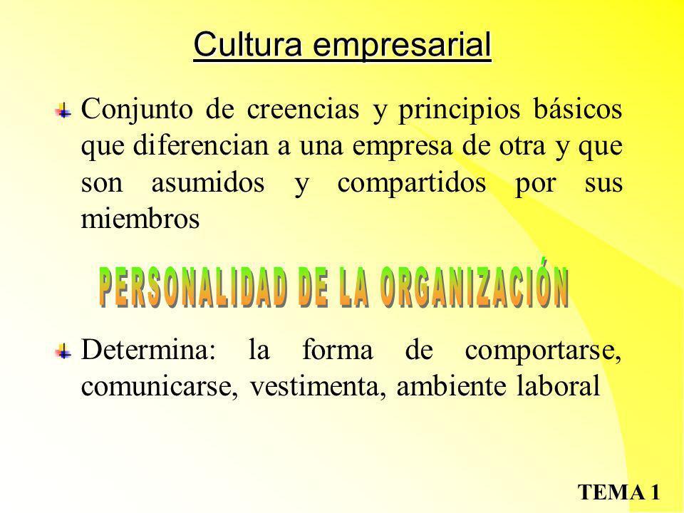 PERSONALIDAD DE LA ORGANIZACIÓN
