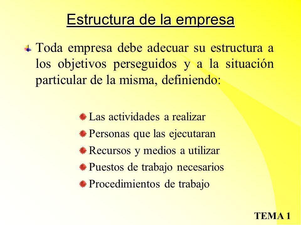 Estructura de la empresa