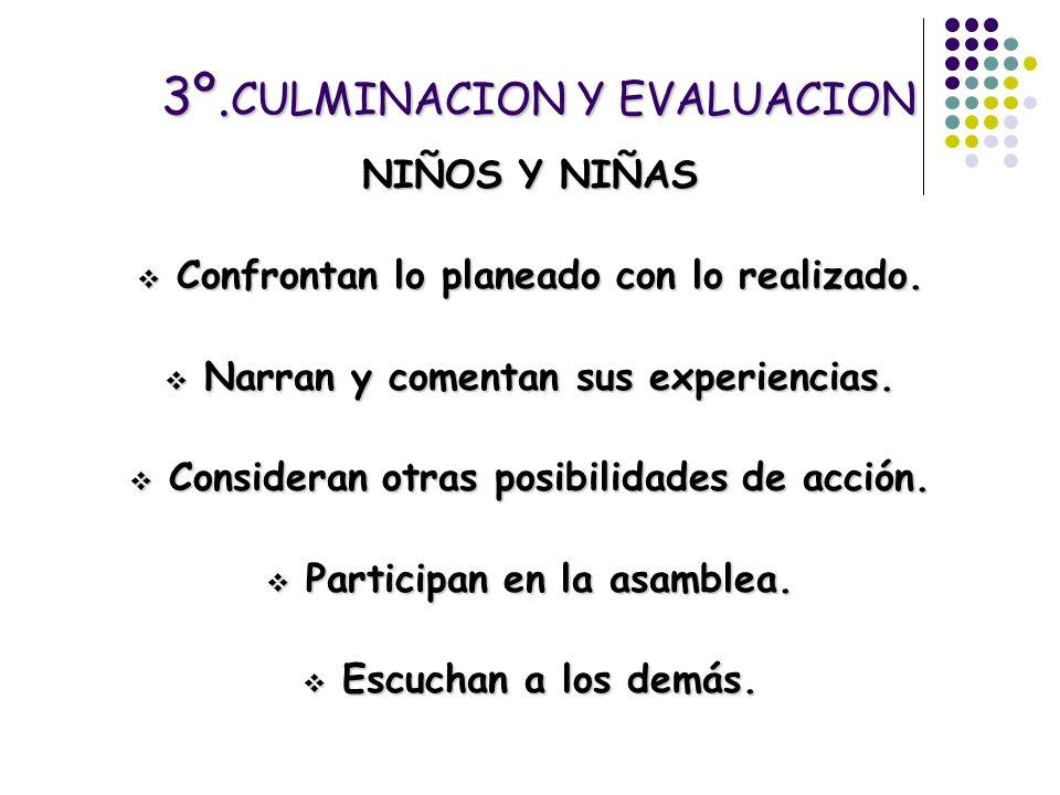 3º.CULMINACION Y EVALUACION