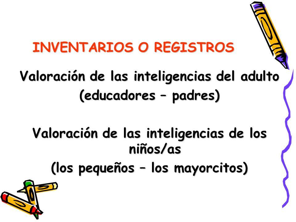 INVENTARIOS O REGISTROS
