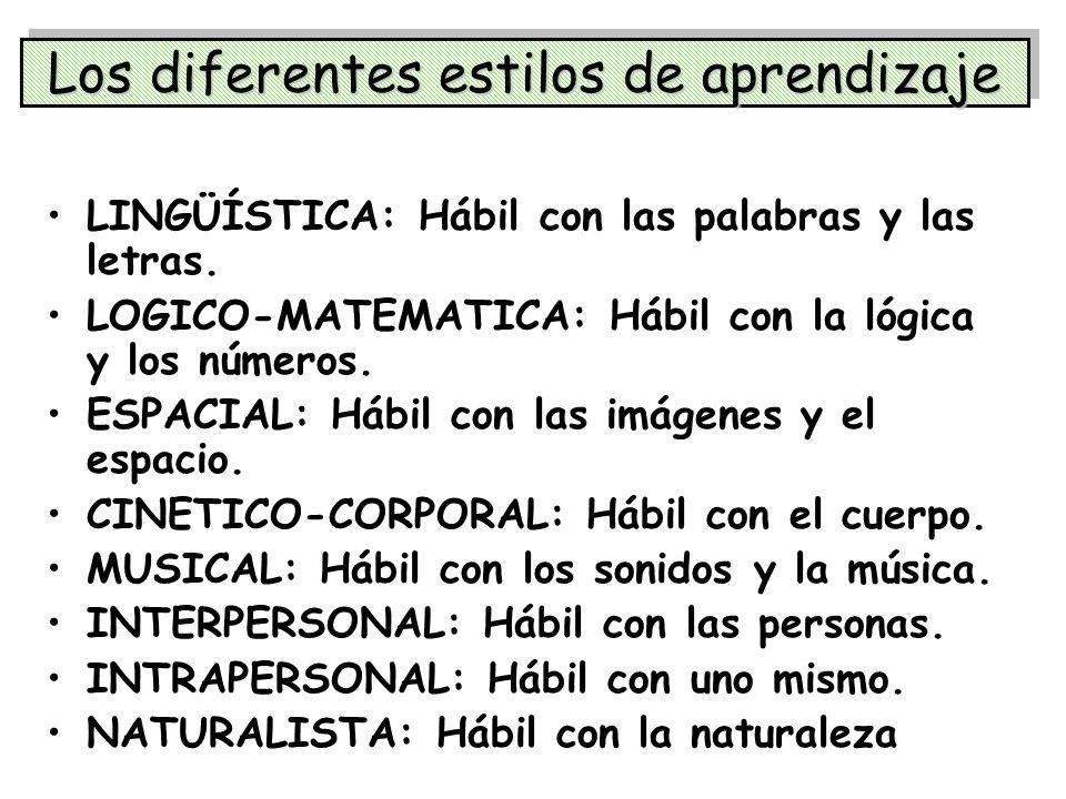 Los diferentes estilos de aprendizaje