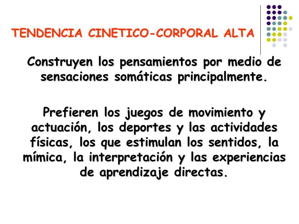 TENDENCIA CINETICO-CORPORAL ALTA