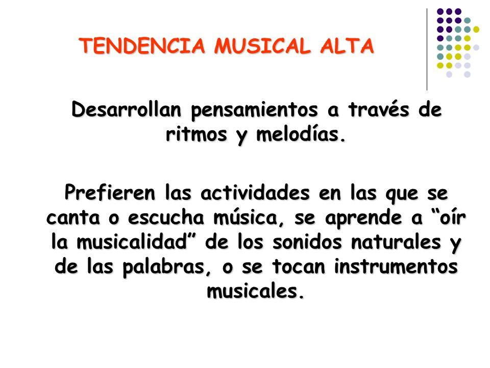 TENDENCIA MUSICAL ALTA