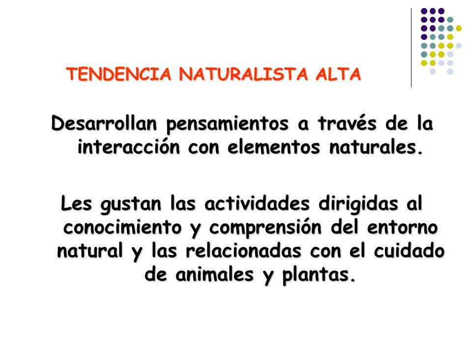 TENDENCIA NATURALISTA ALTA