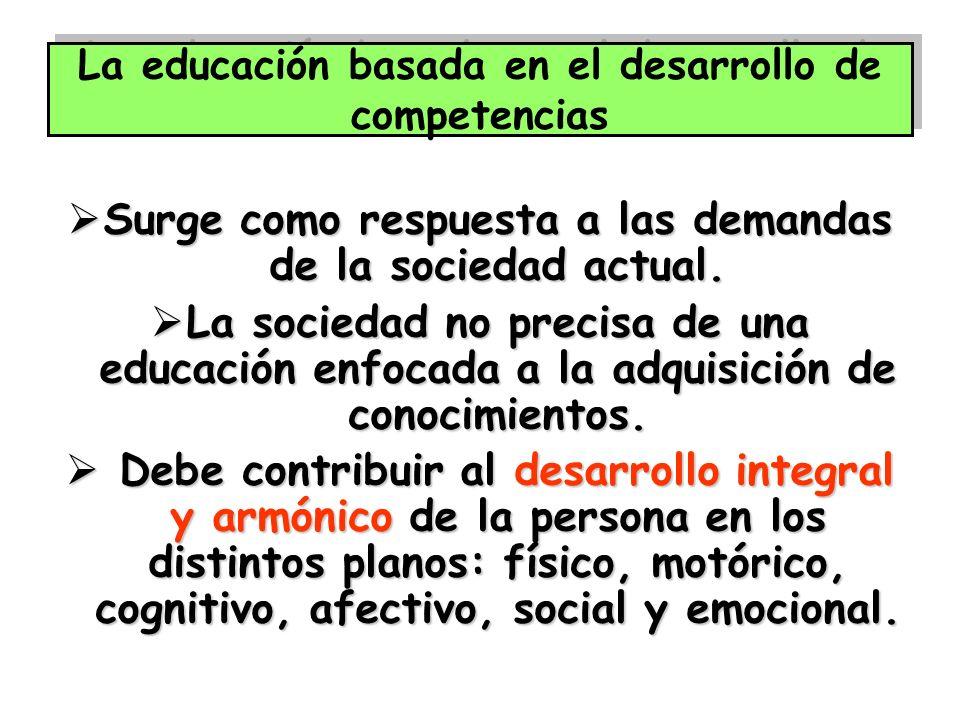 La educación basada en el desarrollo de competencias