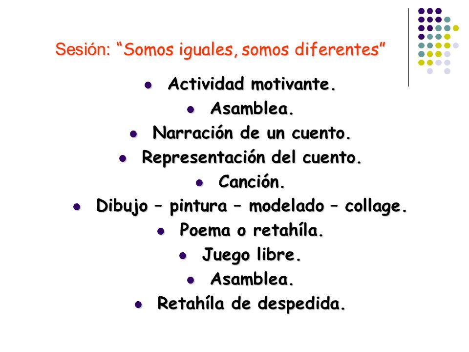 Sesión: Somos iguales, somos diferentes