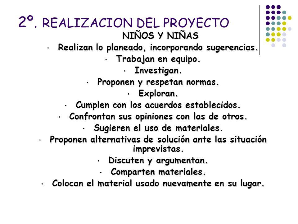 2º. REALIZACION DEL PROYECTO