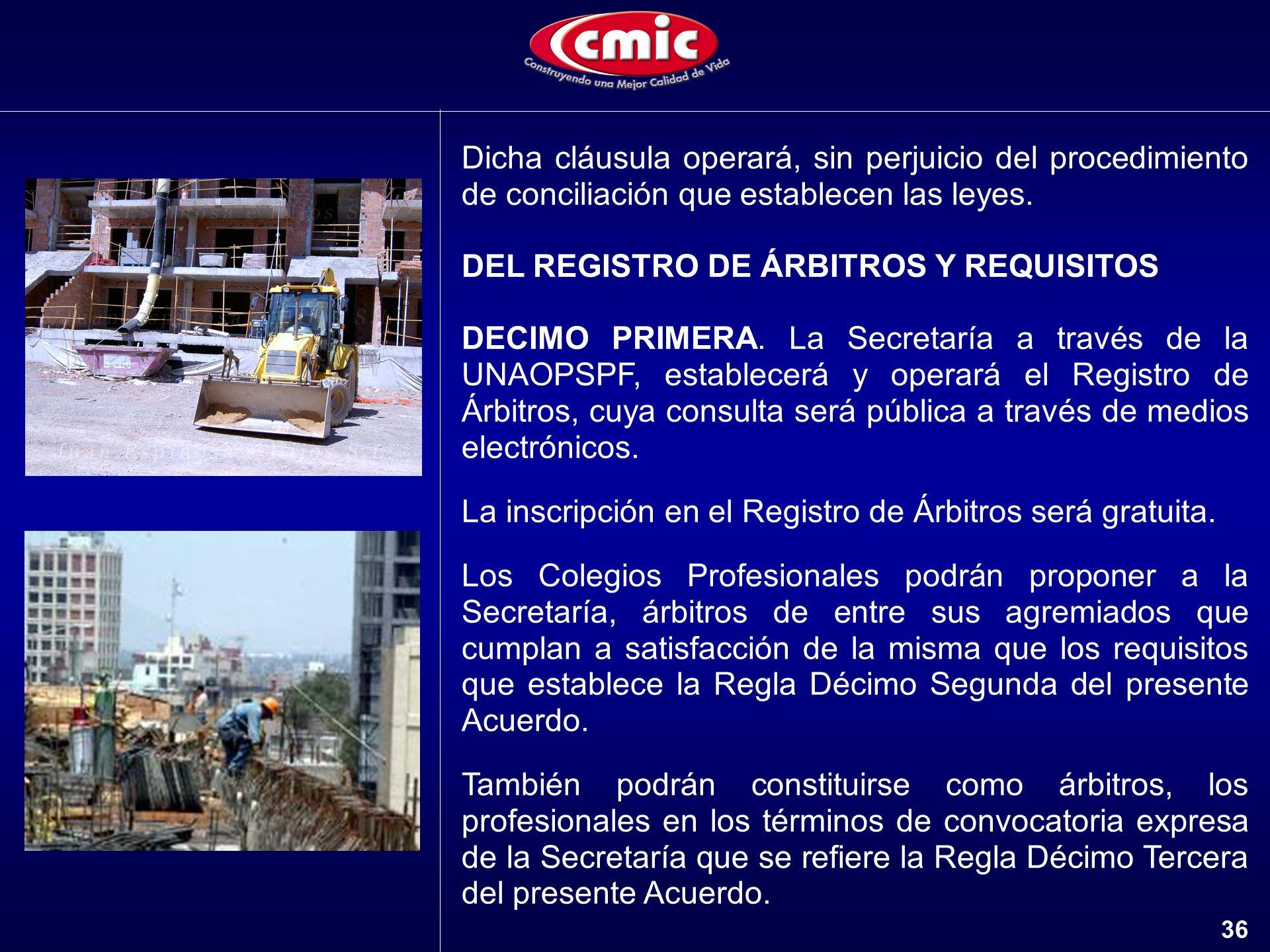 DEL REGISTRO DE ÁRBITROS Y REQUISITOS