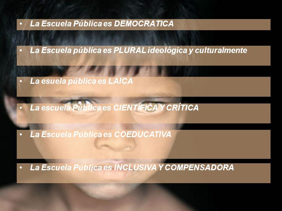 La Escuela Pública es DEMOCRATICA