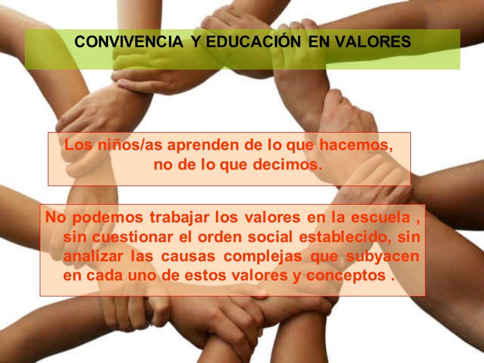 CONVIVENCIA Y EDUCACIÓN EN VALORES