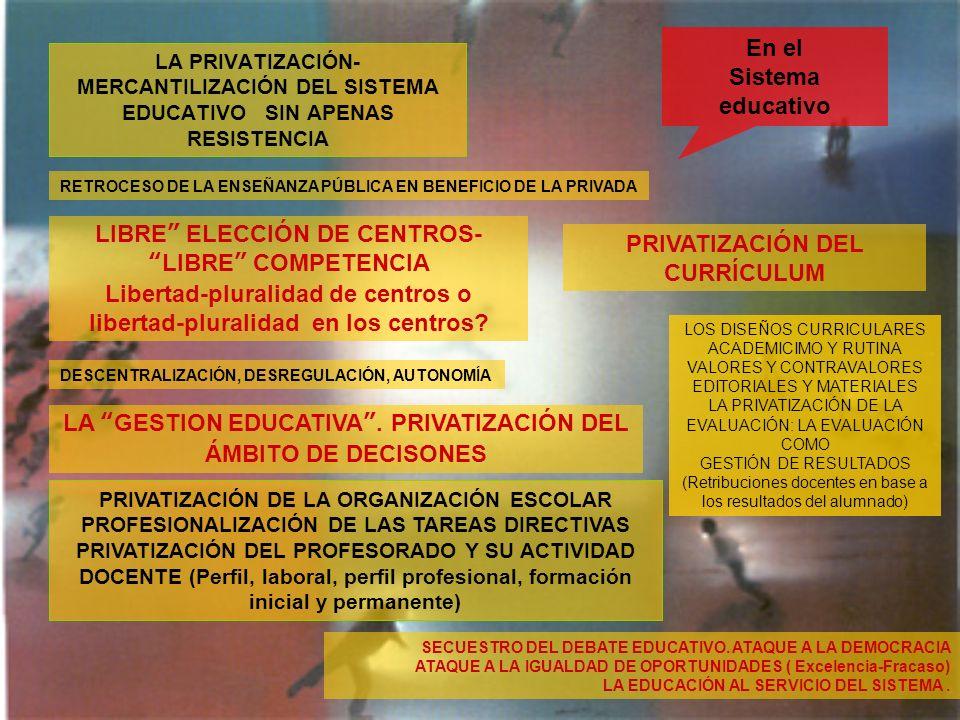 LIBRE ELECCIÓN DE CENTROS- LIBRE COMPETENCIA
