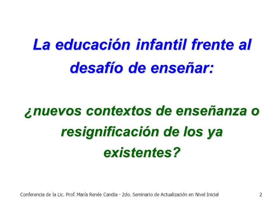 La educación infantil frente al desafío de enseñar: ¿nuevos contextos de enseñanza o resignificación de los ya existentes