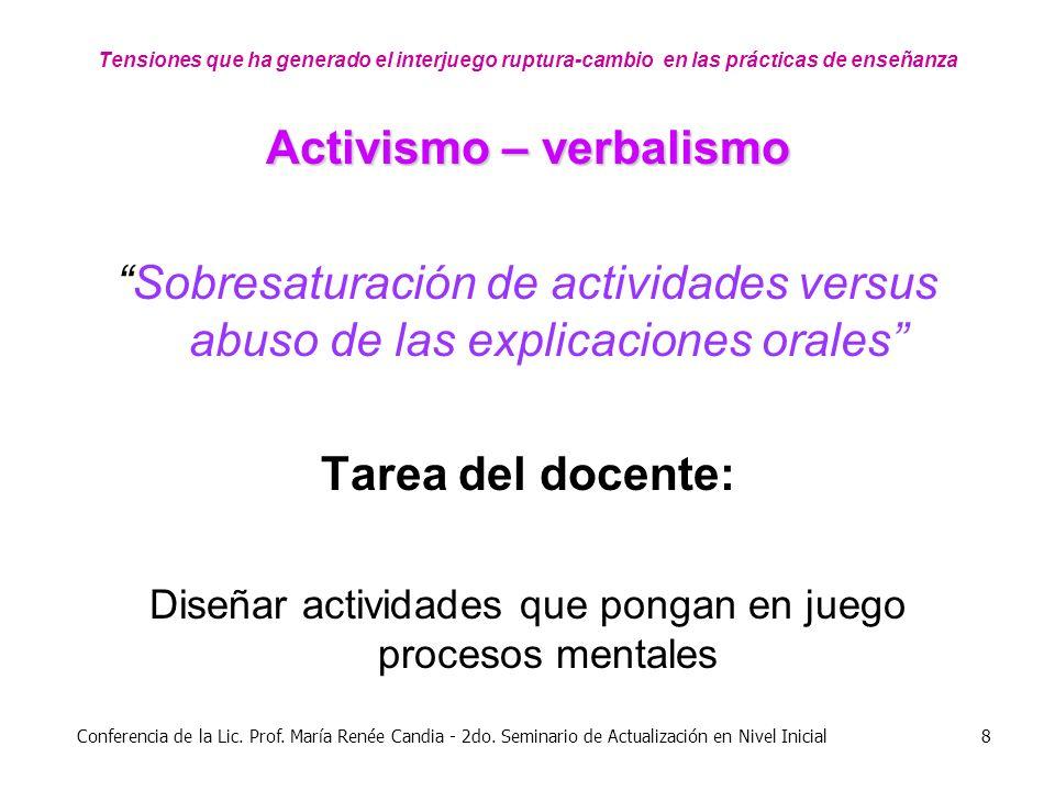 Activismo – verbalismo