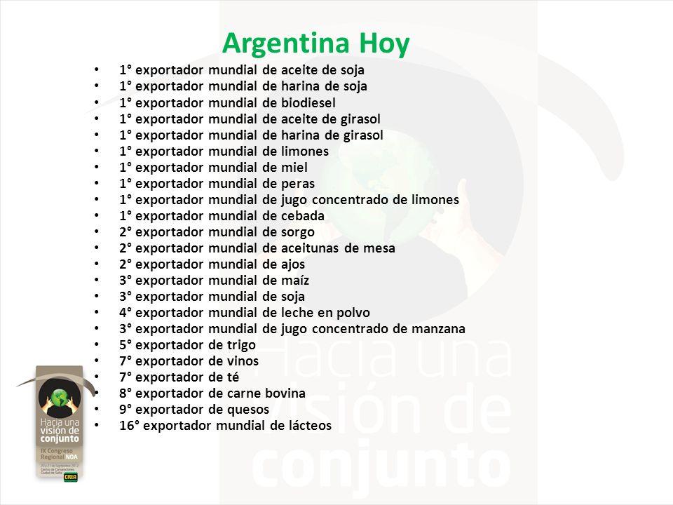 Argentina Hoy 1° exportador mundial de aceite de soja