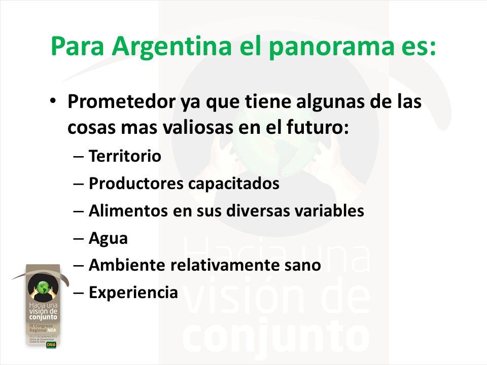 Para Argentina el panorama es: