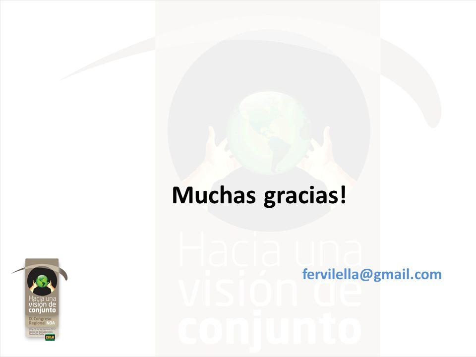 Muchas gracias! fervilella@gmail.com