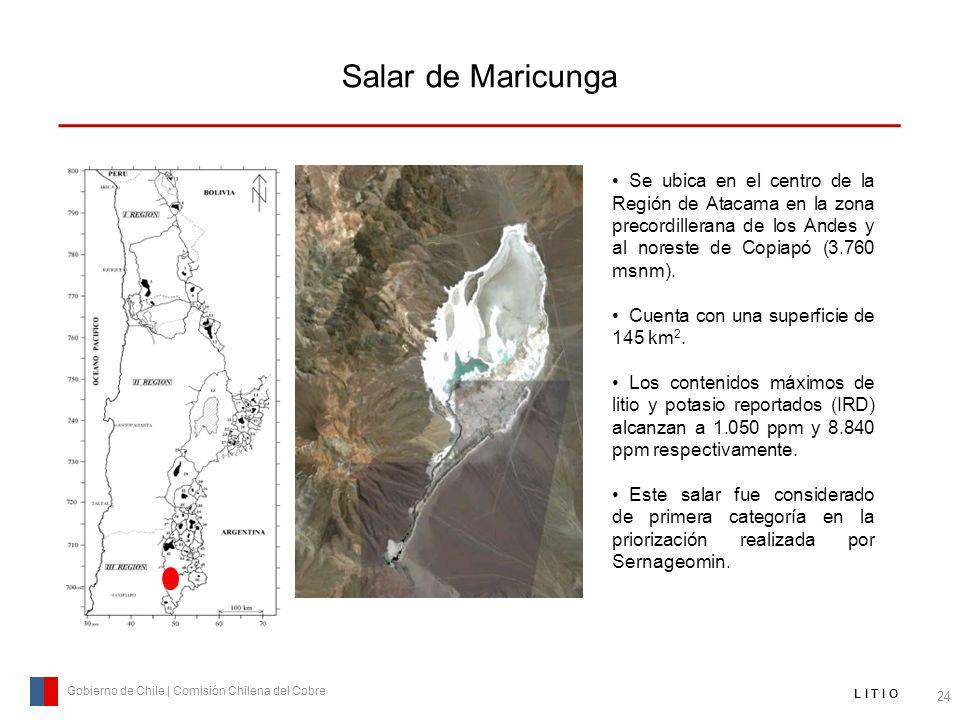 Salar de Maricunga Se ubica en el centro de la Región de Atacama en la zona precordillerana de los Andes y al noreste de Copiapó (3.760 msnm).