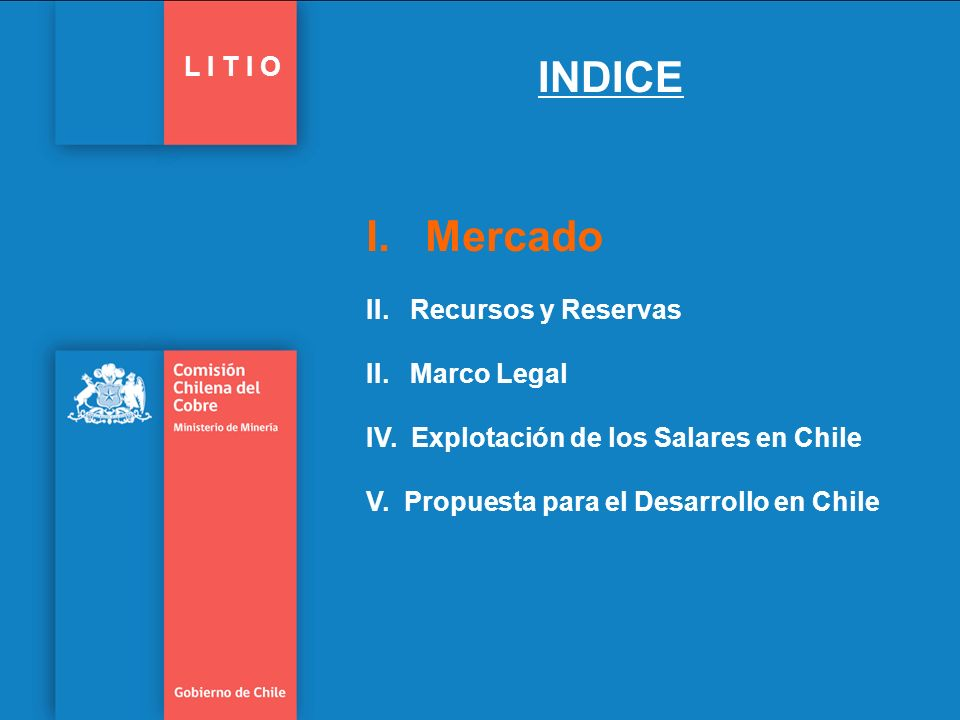 INDICE L I T I O.