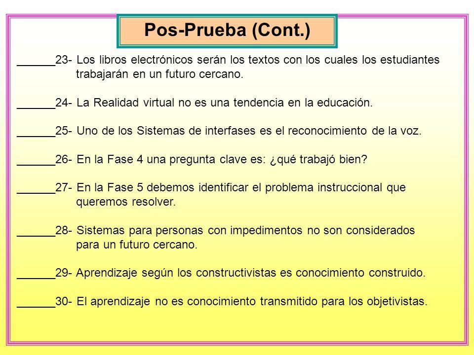 Pos-Prueba (Cont.)