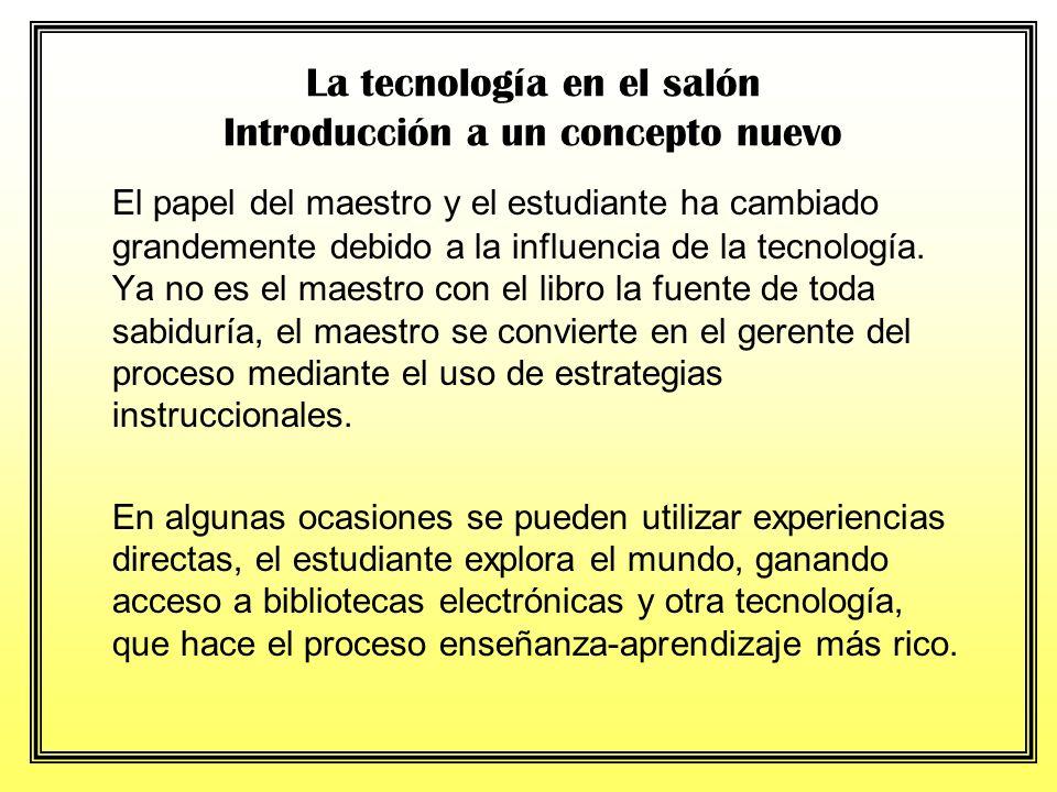 La tecnología en el salón Introducción a un concepto nuevo