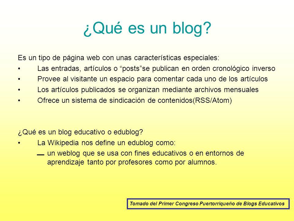 Tomado del Primer Congreso Puertorriqueño de Blogs Educativos