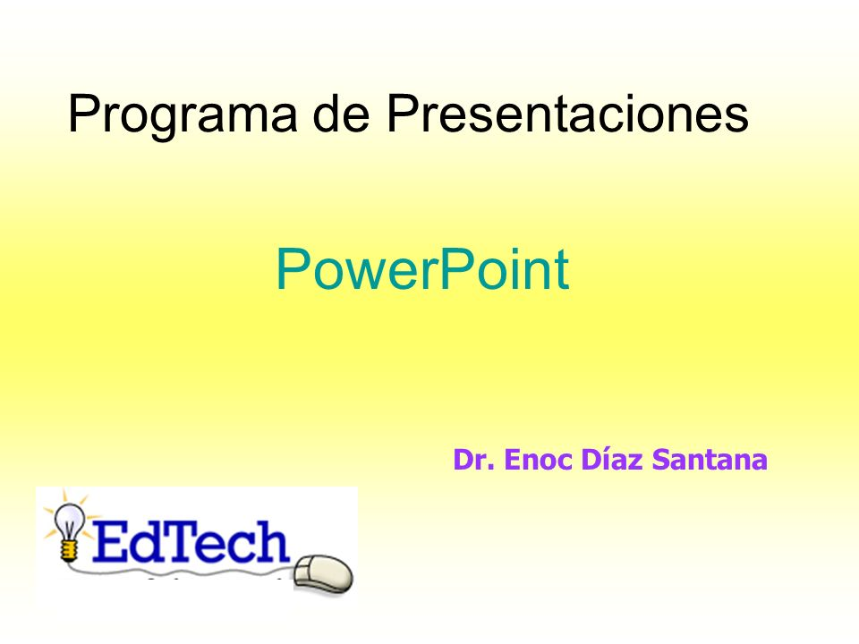 Programa de Presentaciones