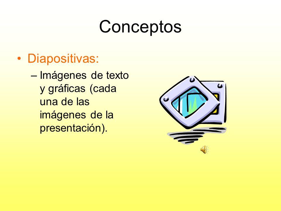 Conceptos Diapositivas: