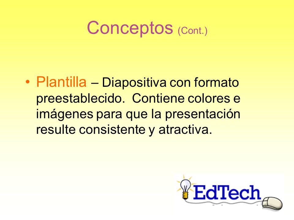 Conceptos (Cont.)