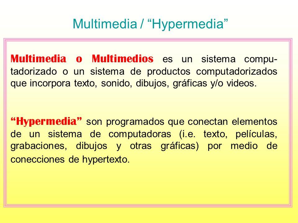 Multimedia / Hypermedia