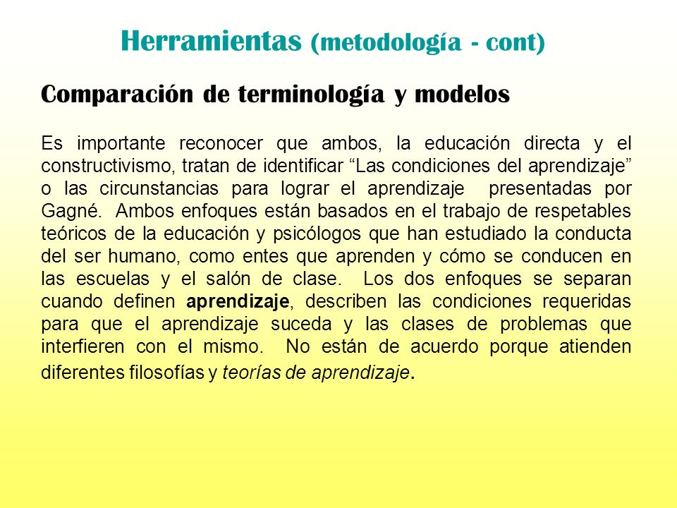 Herramientas (metodología - cont)