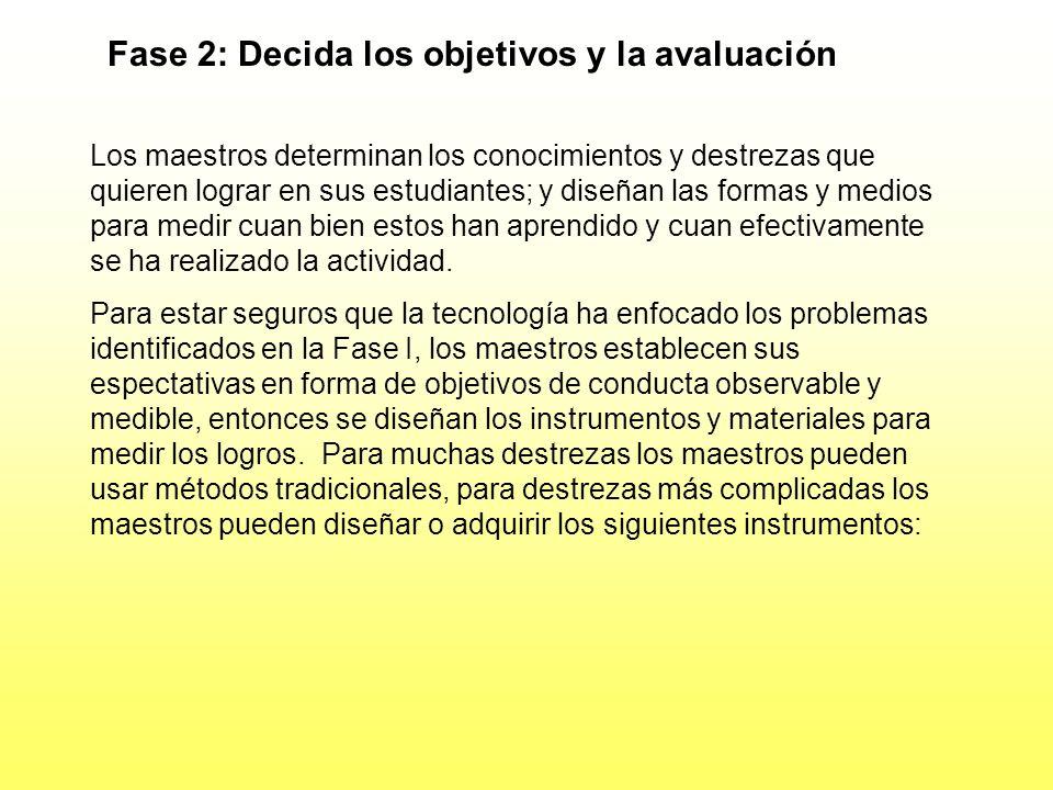 Fase 2: Decida los objetivos y la avaluación