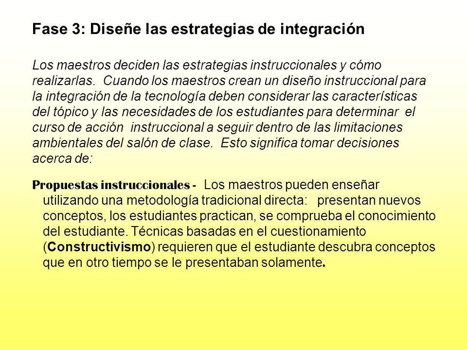 Fase 3: Diseñe las estrategias de integración