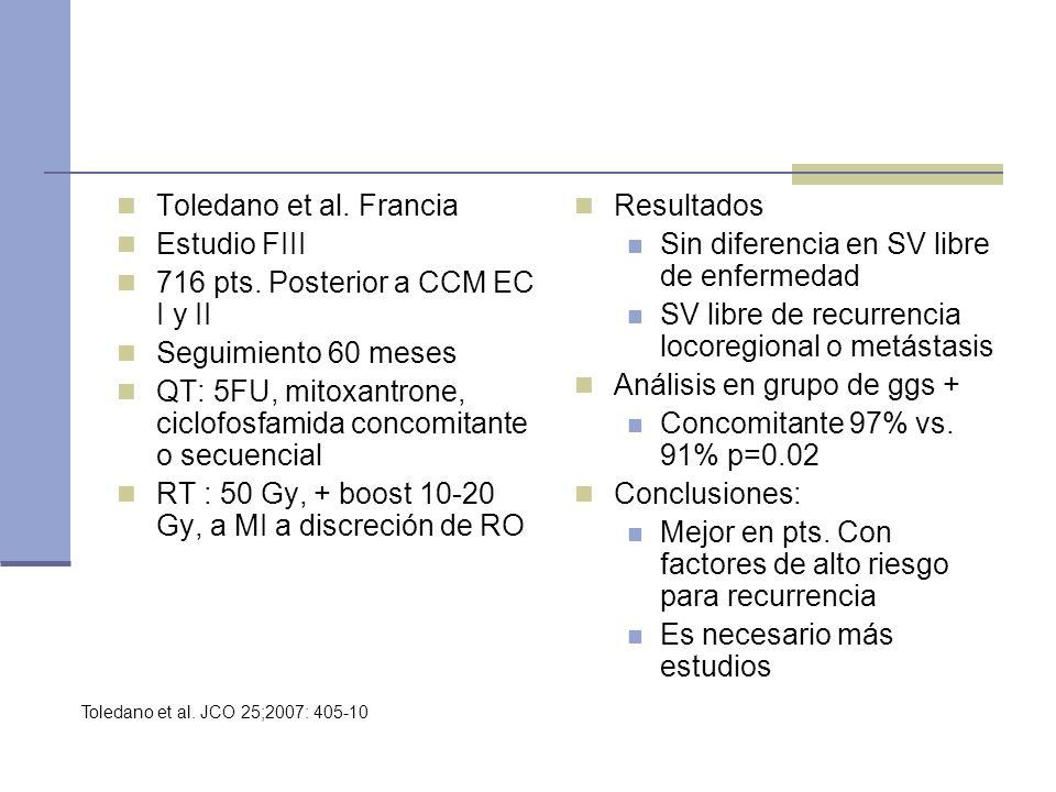 716 pts. Posterior a CCM EC I y II Seguimiento 60 meses