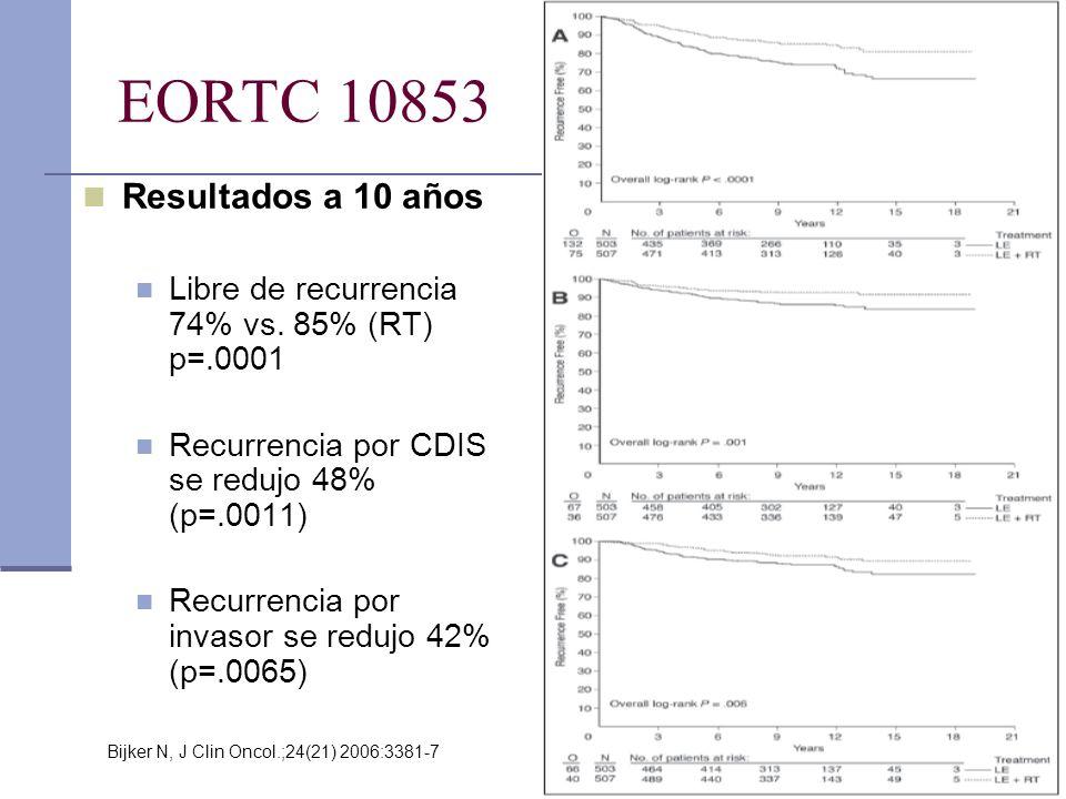 EORTC 10853 Resultados a 10 años