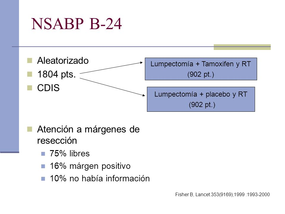 NSABP B-24 Aleatorizado 1804 pts. CDIS