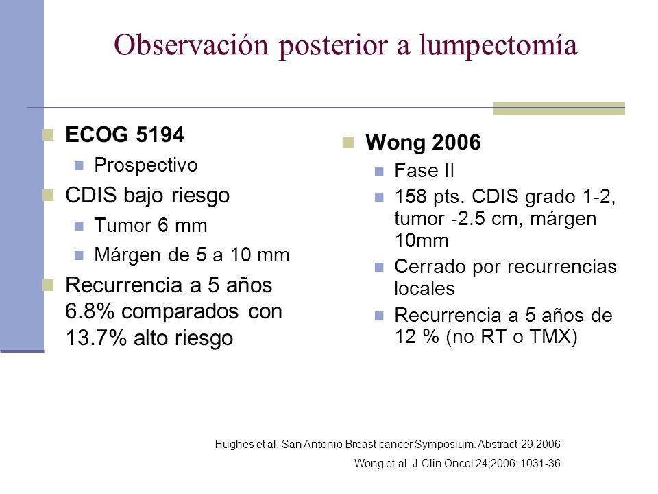 Observación posterior a lumpectomía