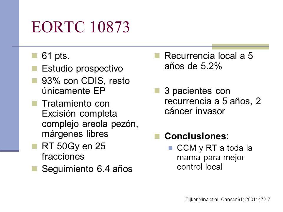 EORTC 10873 61 pts. Estudio prospectivo